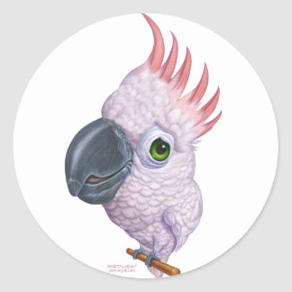 Parakeet Pegatina Redonda