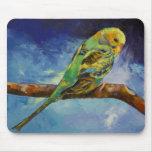 Parakeet que pinta Mousepad Alfombrilla De Raton