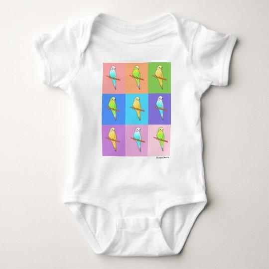 Parakeet Rainbow Rectangles Baby Bodysuit
