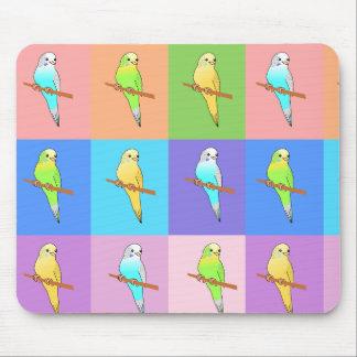 Parakeet Rainbow Tiles Mousepad