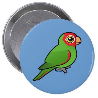 Parakeet Rojo-enmascarado Pin