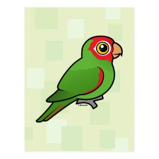 Parakeet Rojo-enmascarado Tarjeta Postal