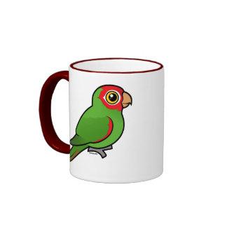 Parakeet Rojo-enmascarado Taza De Café