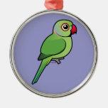 Parakeet Rosa-anillado Adorno De Navidad