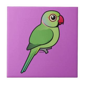 Parakeet Rosa-anillado Azulejo Cerámica