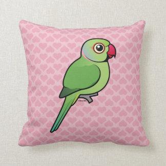 Parakeet Rosa-anillado Almohadas