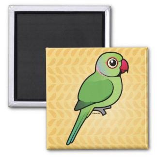 Parakeet Rosa-anillado Imán De Nevera