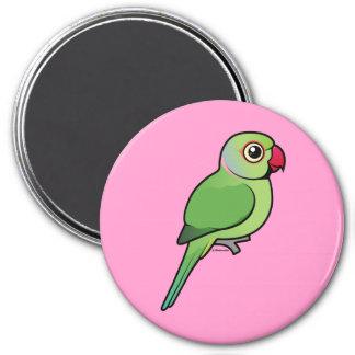 Parakeet Rosa-anillado Iman Para Frigorífico