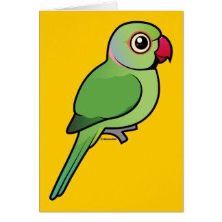 Parakeet Rosa-anillado Felicitaciones