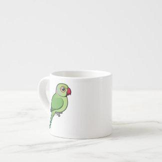 Parakeet Rosa-anillado Tazitas Espresso