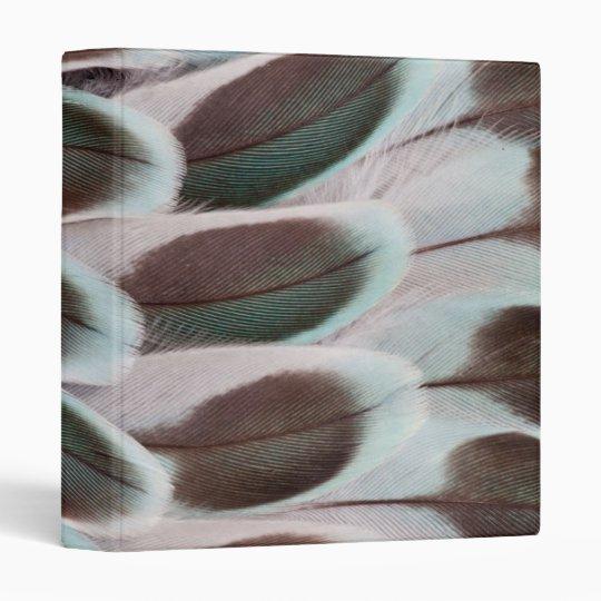 Parakeet Wing Feather Design 3 Ring Binder