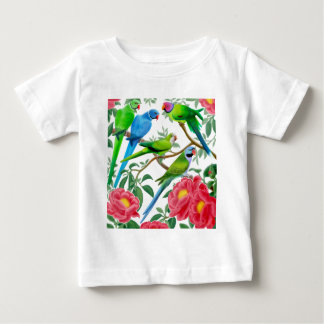 Parakeets and Peonies Baby T-Shirt
