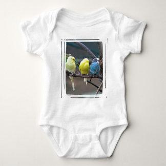 Parakeets Budgies Parrots | Birds Photo Baby Bodysuit