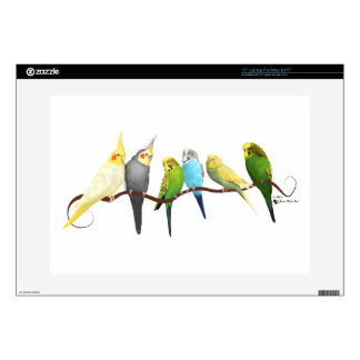 "Parakeets & Cockatiels! Decal For 15"" Laptop"