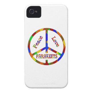 Parakeets del amor de la paz funda para iPhone 4