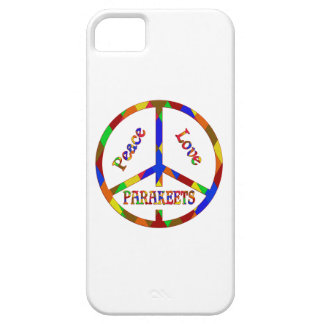 Parakeets del amor de la paz funda para iPhone SE/5/5s
