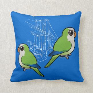 Parakeets del monje de Brooklyn Cojines
