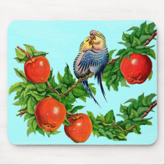 parakeets in love mouse pad