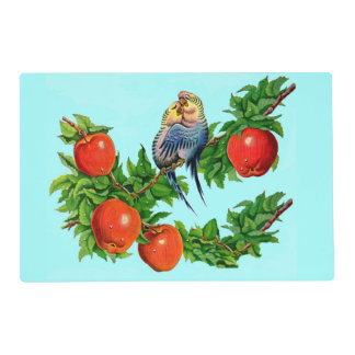 parakeets in love placemat
