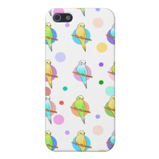 Parakeets & Polka Dots Pattern Cover For iPhone SE/5/5s