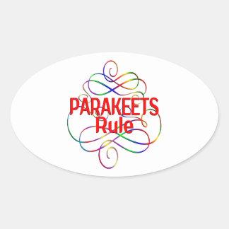 Parakeets Rule Oval Sticker