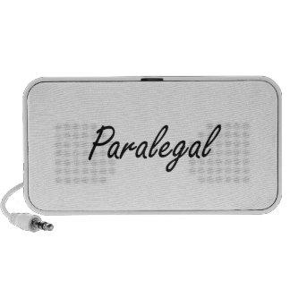 Paralegal Artistic Job Design Portable Speakers