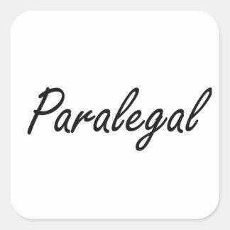 Paralegal Artistic Job Design Square Sticker