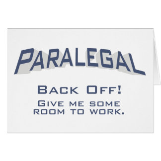 Paralegal / Back Off Card