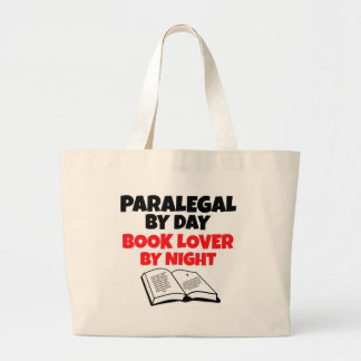 Paralegal by Day Book Lover by Night Jumbo Tote Bag