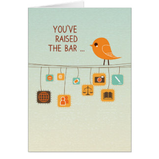Paralegal Day, Bird on High Wire, Legal Assistant Card