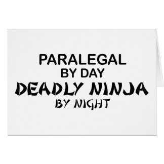 Paralegal Deadly Ninja by Night Card
