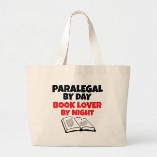 Paralegal del aficionado a los libros del día por  bolsa tela grande