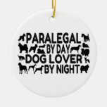 Paralegal Dog Lover Christmas Ornament