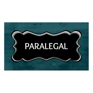 Paralegal Elegant Name Plate Double-Sided Standard Business Cards (Pack Of 100)