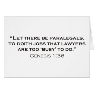 Paralegal / Genesis Greeting Cards
