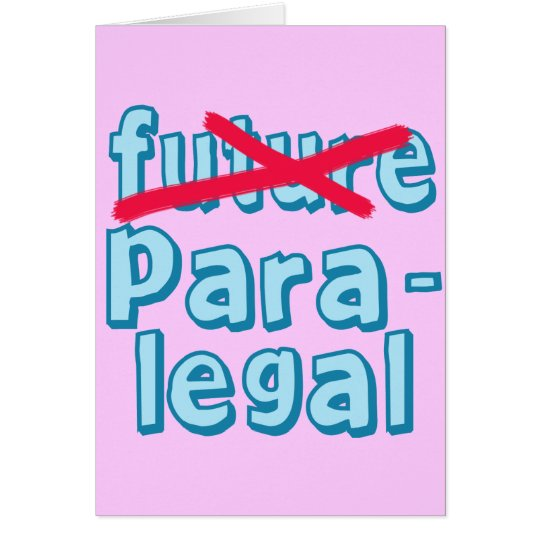 Paralegal Graduation Products Card