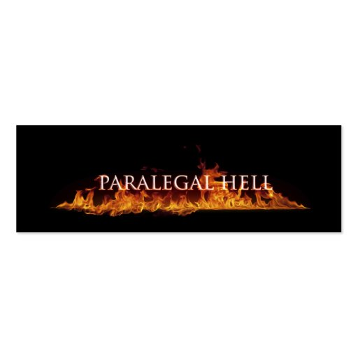 Paralegal hell business card zazzle for Paralegal business cards