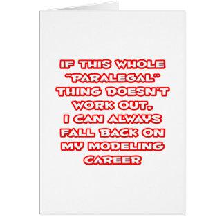 Paralegal Humor ... Modeling Career Card