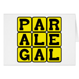 Paralegal, Legal Assistant Card