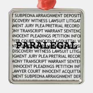Paralegal Legal Terminology Christmas Metal Ornament
