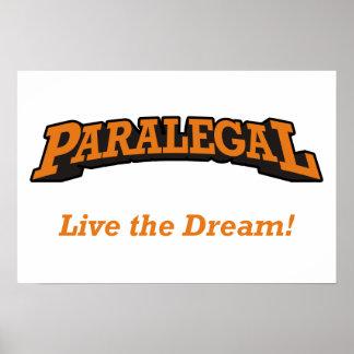 Paralegal - Live the Dream Print