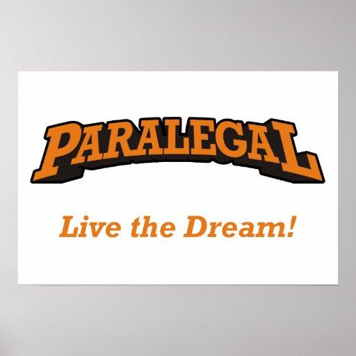 Paralegal  - Live the Dream! Print