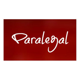 Paralegal Red Business Card