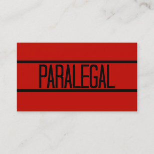 Paralegal business cards zazzle paralegal red business card reheart Image collections
