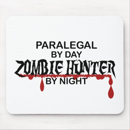 Paralegal Zombie Hunter Mousepad