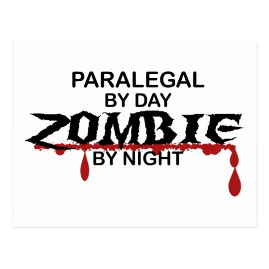 Paralegal Zombie Postcard