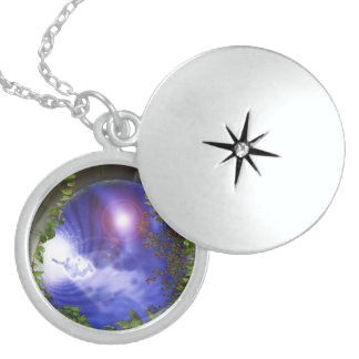 Paralell worlds locket necklace