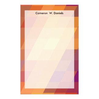 Paralelogramos geométricos del naranja de los papelería de diseño