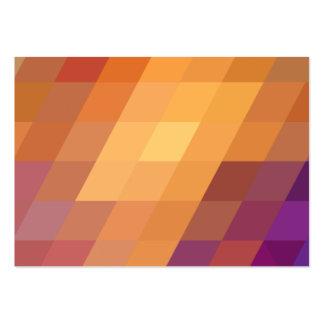 Paralelogramos geométricos del naranja de los tarjetas de visita grandes