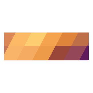 Paralelogramos geométricos del naranja de los tarjetas de visita mini